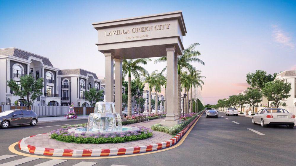 Cổng vào dự án Lavilla Green city